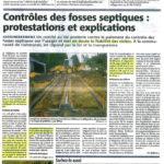 JANV 2008 / Contrôle des fosses septiques : protestation et explications
