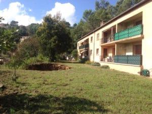 Affaissement de terrain au Luc-en-Provence