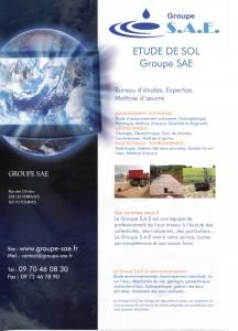 FLYER GROUPE SAE 2014. #étudedesol #groupesae