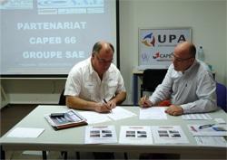 Signature Partenariat Étude de Sol, CAPEB 66 SAE