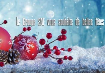 Le Groupe SAE vous souhaite de belles fêtes de fin d'année