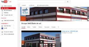 Chaine You tube Groupe SAE