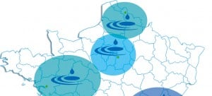 Projection du développement en France : Nord, Nord Est et Nord Ouest.