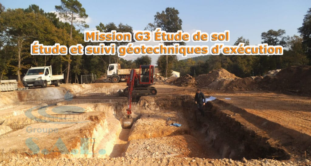 Trendy mission g tude de sol u tude et suivi duexcution for Sondage terrain avant construction