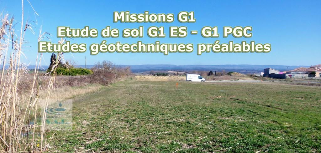 Missions G1 ES - G1 PGC - Etudes géotechniques préalables
