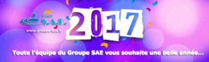 Bonne Année 2017. Toute l'équipe de Groupe SAE vous souhaite une belle année 2017